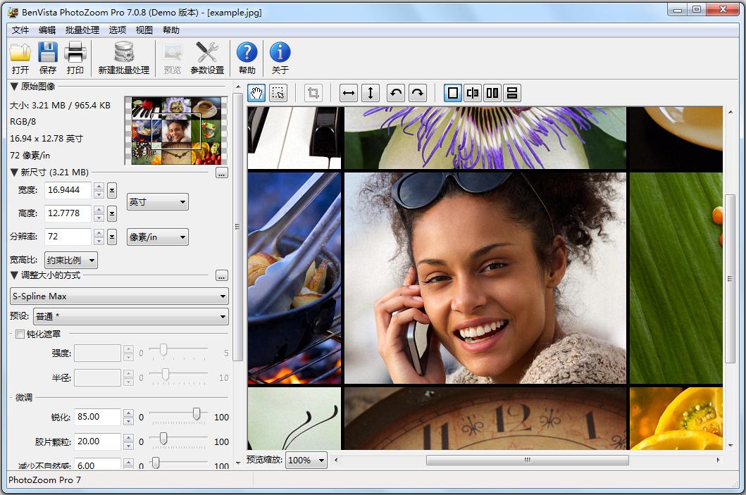 PhotoZoom Pro(图片放大) V7.0.8 简体中文版