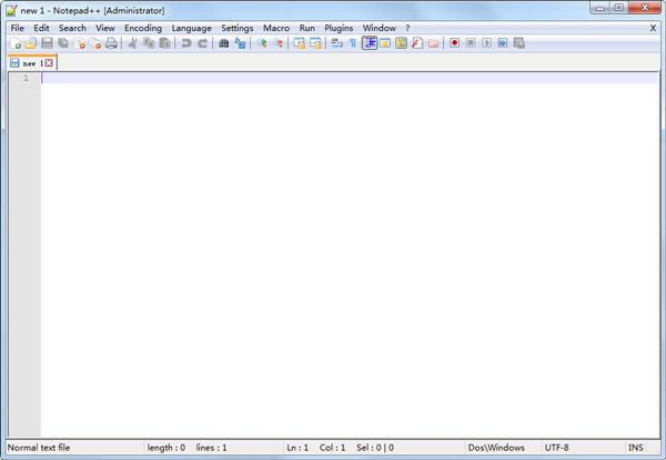 Notepad++(代码编辑器) V7.5 简体中文版