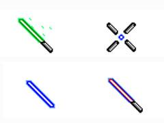 蓝色荧光棒鼠标指针