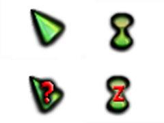 荧光绿立体鼠标指针
