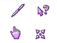 紫彩系列鼠标指针