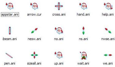精美圣诞老人圣诞节鼠标指针