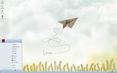 纸飞机爱的轨迹xp主题
