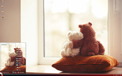 可爱小熊依靠xp主题