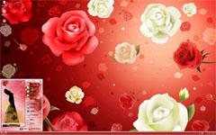 红白玫瑰花xp主题