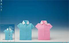 可爱折纸小衬衣xp主题