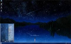 流星夜空xp主题
