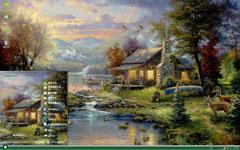 森林小屋油画xp主题