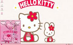 粉色可爱Kitty猫xp主题