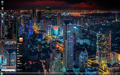 唯美的都市夜景Win7主题
