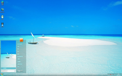 马尔代夫阳光沙滩Win7主题