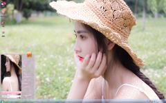 文艺的萌妹子夏日写真Win7主题