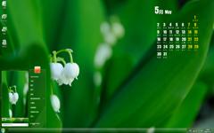 绿叶植物摄影5月日历Win7主题