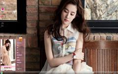 美美的刘亦菲时尚写真Win7主题