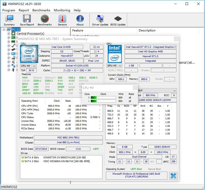 HWiNFO32(免费硬件检测工具) V6.01 绿色版