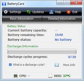 笔记本电池监控软件(BatteryCare) V0.9.29.2 绿色版